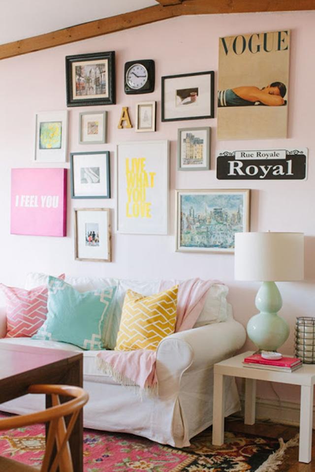 decoracao-quadros-na-parede-vintage-fofo-11