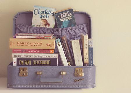 mala de livros